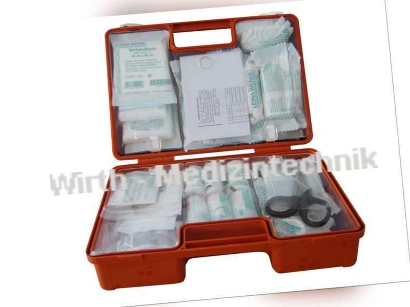 Erste Hilfe Koffer Kasten Verbandskasten DIN 13169 Baustelle Verbandkasten