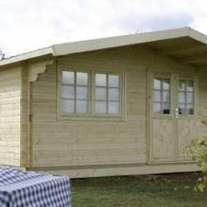 Gartenhaus Nordkap 70-F/1-Raum Wohnhaus Doppelfenster,28mm Holzboden Wolff