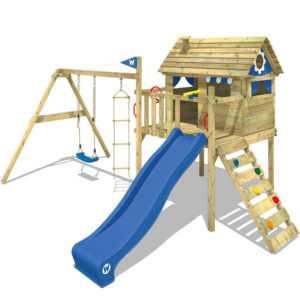 WICKEY Spielturm Klettergerüst Smart Travel mit Rutsche, Schaukel
