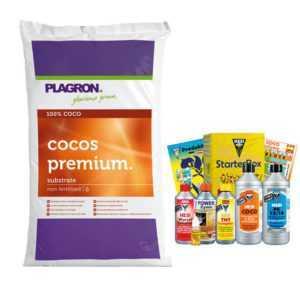 50L Plagron Cocos Premium + Hesi Starter Kit Coco KomplettSet Kokos+Dünger Grow