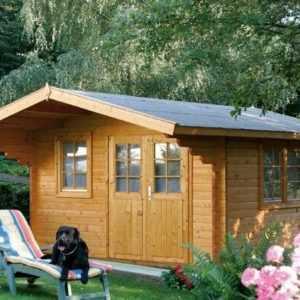 Gartenhaus Nordkap 70-L / XL ISO 4,20 x 5,20 m Mit Holtboden + Bitumenschindeln
