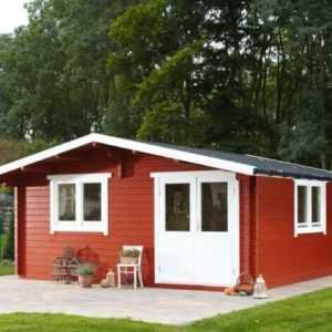 Gartenhaus Nordkap 70-G / XL 5,5x5,5m Blockhaus +gratis Schindeln Wolff Finnhaus