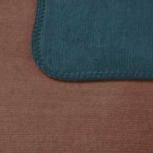 Bocasa Wohndecke Duo Cotton Melange, Farbe smaragd / siena, Gr.