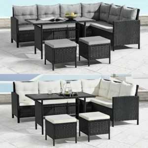 Polyrattan Gartenmöbel Lounge Sitzgruppe Gartenset Rattanmöbel ArtLife®