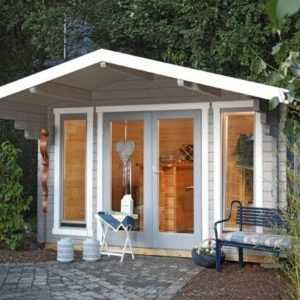 Gartenhaus Hammerfest 70-G Blockhaus 5,20x5,20 Wolff gratis Schindeln auch XL