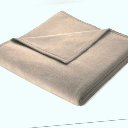 Biederlack Decke braun 150 x 200 KUSCHELDECKE Wohndecke Decken