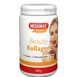 MEGAMAX Beauty Kollagen Pulver Collagen Plus L-Cystein, Mangan- Urspr. Rind