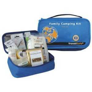 TravelSafe Family Camping Kit Reiseapotheke 1. Hilfe Set Verbandtasche Neu