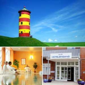 Wellness & Romantik Wochenende mit Nordseebrise 4★ Hotel Novum 3 Tage Kurzreise