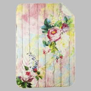 Emilia Wohndecke Kuscheldecke 100x140cm Rosen Vintage Shabby