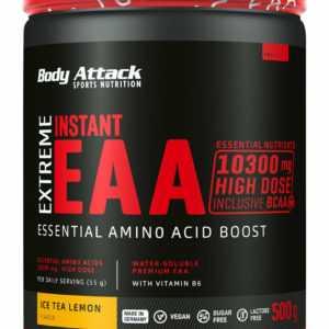 Body Attack Extreme Instant EAA 500 g 8 essentielle Aminosäuren Amino Protein B1
