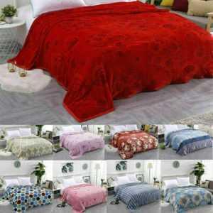 Luxus Weich Warmer Coral Fleecedecke Sofa Tagesdecke Bettwäsche