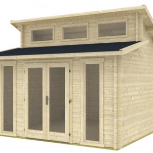 Gartenhaus Langeoog 70-B ISO Premium-Holzhaus
