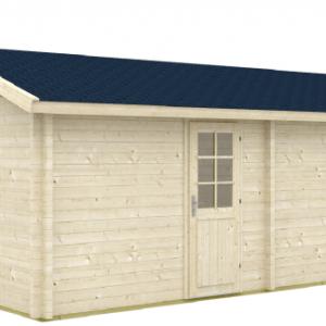 Doppel-Gartenhaus Mikko 70-Iso 6,20 x 4,20m 24m² Doppelhaus Blockhaus 28mm Boden