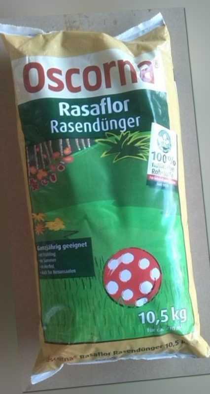 Oscorna Rasaflor Rasendünger 10,5 Kg bei Moos organisch Bio Langzeit Dünger