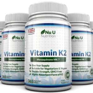 Vitamin K2 Menachinon Mk-7 200mcg 365 5 Flaschen Vegetarisch,Vegan Tabletten