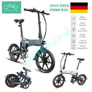"FIIDO D2S 16 "" Elektrofahrrad E-Bike 250W Faltbar Fahrrad Fahren 7.8AH 36V -DE"
