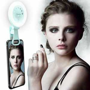 Yarrashop Selfie Licht Rechargeable LED Selfie Ring Light, 3 Modes (Grün)