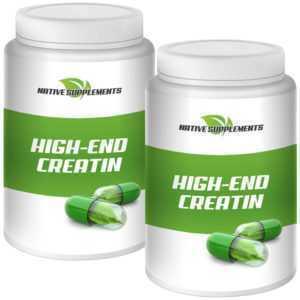 2X HIGH END CREATIN - 500g Kreatin Monohydrat Pulver + Taurin - Muskelaufbau