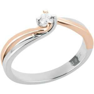 Solitär Ring 375 Gold Diamant Ring Rosegold Weißgold bicolor Brillant Verlobungs