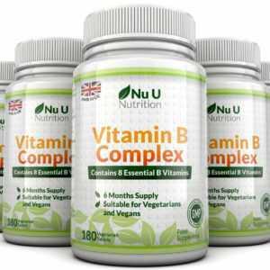 Vitamin B Komplex 5 Flaschen 900 Tabletten Beinhaltet Acht in einem