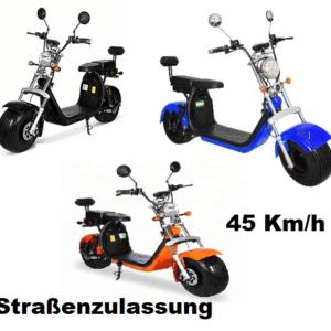 Elektro - Scooter, Harley Design, 45 Km/h,  Cityrunner X10, 12 Ah oder 20 Ah