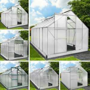 Gewächshaus Aluminium mit Fundament Alu Treibhaus Glashaus Tomatenhaus BRAST