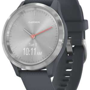 GARMIN vivomove 3S Smartwatch mit Silikonband Granitblau/Silber 010-02238-00