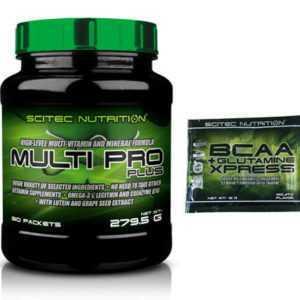 Scitec Nutrition Multi Pro Plus - 30 Pakete - Vitamine Multivitamin Zink + Probe