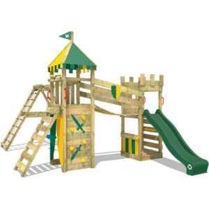 WICKEY Spielturm Klettergerüst Smart Legend 120 grüne Rutsche Doppelschaukel