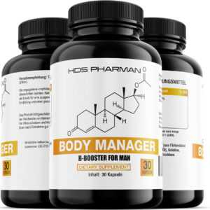 3 x HDS Pharman Body Manager | Männer Fatburner | Abnehmen | Diät Unterstützung