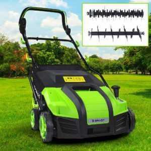 BRAST Elektro Vertikutierer Rasenlüfter 1800 Watt Kombi Gerät Moosentferner