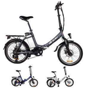 "E-Bike Elektro Fahrrad Faltrad 20"" 51cm ALUMINIUM Ebike 6 Gang Shimano Pedelec"