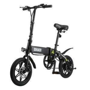 Dohiker 14'' ALU Elektrofahrrad Klapprad E-Bike Ebike 25km/h USB LCD Display