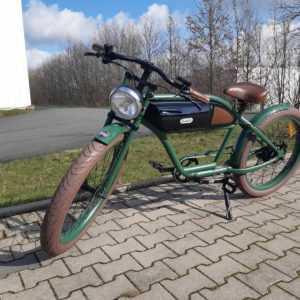 Elektro Cruiser Michael Blast GREASER Custom E-Bike Fahrrad GRÜN SCHWARZ