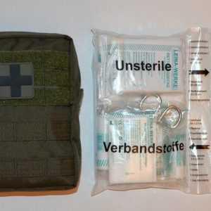 First Aid Set Pro LEINA 43-tlg LG Erste Hilfe Medical Bag GERMANY Prepper Oliv