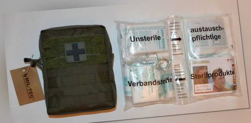 First Aid Set Pro LEINA 43-tlg LG Erste Hilfe Medical Bag GERMANY Prepper Oliv
