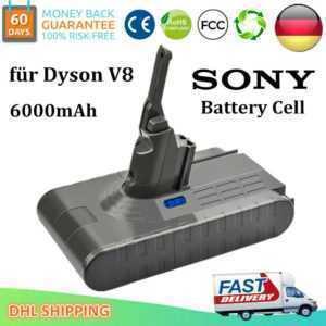21.6V 6000mAh Li-ion Akku Für Dyson V8 Absolute Staubsauger Sony Cell Batterie