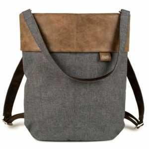 zwei Olli OR12 Rucksack Umhängetasche Tasche Stone Grau Braun Damen Herren