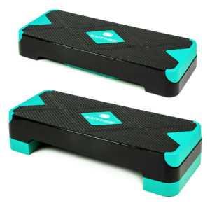 Aerobic Steppbrett  2-Stufen Stepper Step-Bench Home-Stepper Steppbank Gymnastik