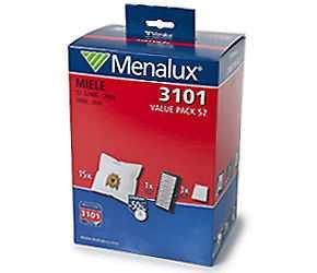 Menalux 3101 Value Pack Staubsaugerbeutel für Miele S2: S2000...2999, S800...899