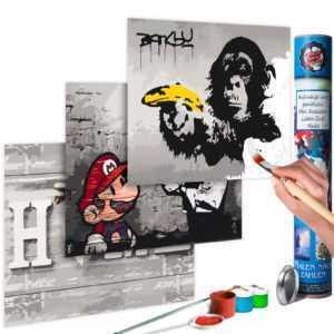 Malen nach Zahlen Erwachsene Wandbild Malset mit Pinsel Malvorlage n-A-0352-ab-e