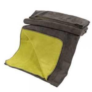 Kuscheldecke mit Baumwolle doubleface anthrazit-grün 150x200cm,
