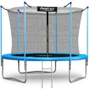 Gartentrampolin Kindertrampolin mit Sicherheitsnetz Leiter Neo-Speort 244 cm 8FT