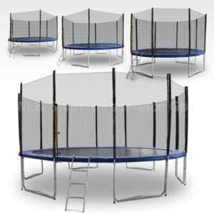 Trampolin 2,50m - 4,90m Gartentrampolin Komplettset mit Leiter & Sicherheitsnetz