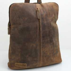 Leder Rucksack und Umhängetasche Hunter Collection von Bayern Bag® 2 in 1