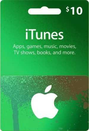 Apple iTunes $10 Dollar US Gift Card - 10 USD Geschenkkarte für USA App Store