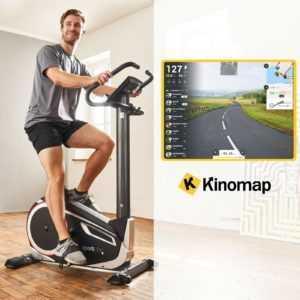 SportPlus Fahrrad Ergometer Heimtrainer Fitnessbike Trimmrad Cardio Bike Kinomap