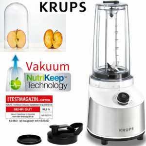 Krups FRESHBOOST Vakuum Standmixer To Go Edelstahl Smoothie Maker...