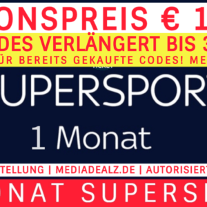 1 MONAT SKY SUPERSPORT TICKET 🏆 AUTORISIERTER VERKÄUFER✔️ 100% LEGAL✔️ € 13,99*